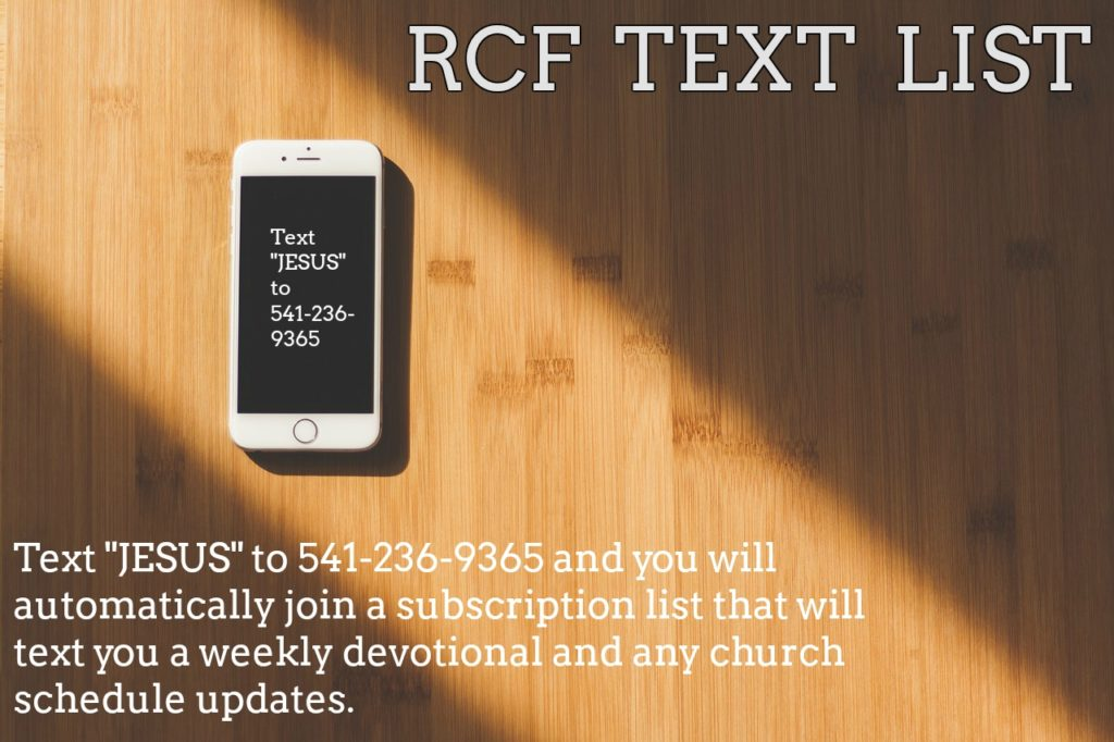 rcf text schedule